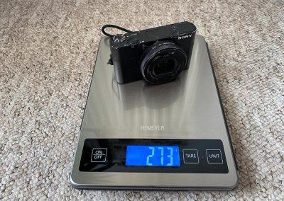 Camera weight: 273g