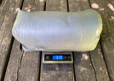 Weight w/ stuff sack: 819g