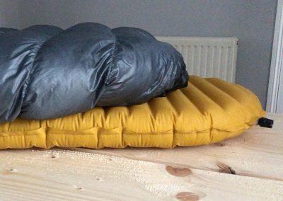 On sleeping pad