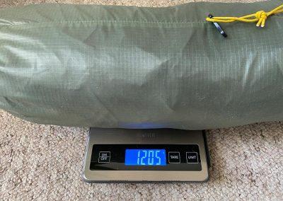 Tent weight: 1205g